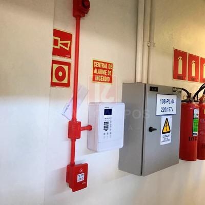 Alarme de incêndio proteção