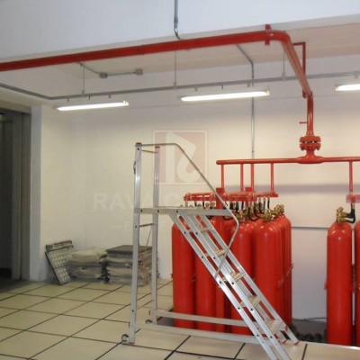 Instalação de sistema de incendio
