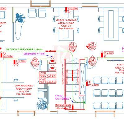 Projeto de proteção e combate a incêndio