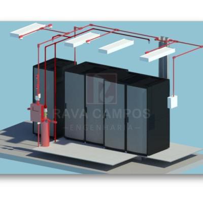 Projeto de sistema de combate a incendio