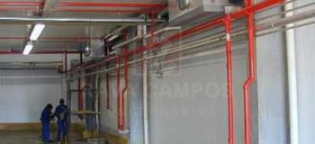 Chuveiro automático para extinção de incêndio